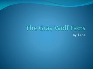 The Gray Wolf Facts