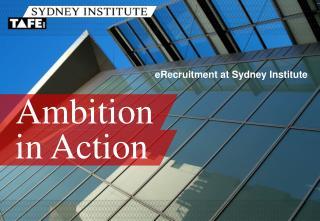 eRecruitment at Sydney Institute
