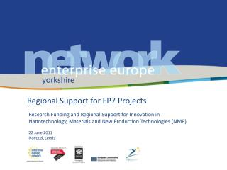 Regional Support for FP7 Projects