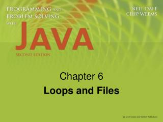 Chapter 6 Loops and Files