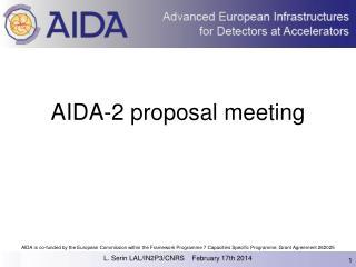 AIDA-2 proposal meeting