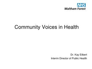 Community Voices in Health