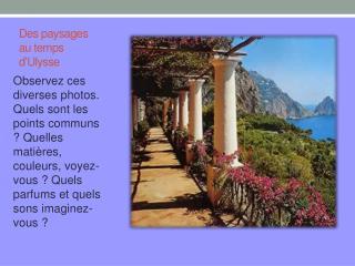 Des paysages au temps d'Ulysse