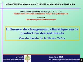 International Scientific Workshop  7 & 8 juin 2011