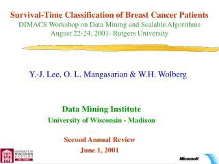 Y.-J. Lee, O. L. Mangasarian & W.H. Wolberg