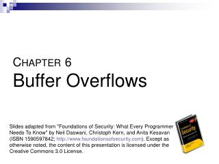 C HAPTER 6 Buffer Overflows