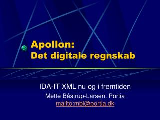 Apollon: Det digitale regnskab