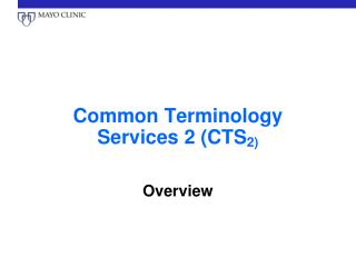 Common Terminology Services 2 (CTS 2)