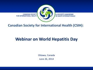 Canadian Society for International Health (CSIH):