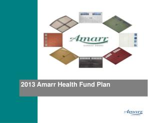 2013 Amarr Health Fund Plan