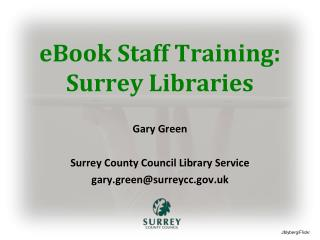 eBook Staff Training: Surrey Libraries