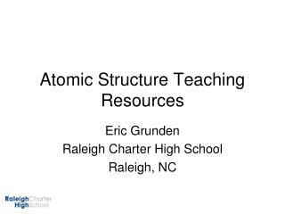Atomic Structure Teaching Resources