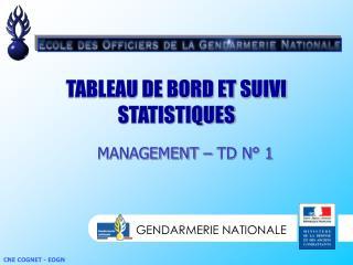 TABLEAU DE BORD ET SUIVI STATISTIQUES