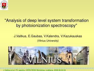 """Analysis of deep level system transformation by photoionization spectroscopy"""
