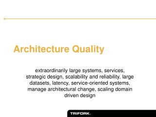 Architecture Quality