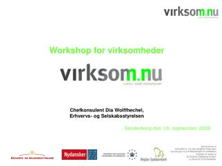 Workshop for virksomheder  Chefkonsulent Dia Wolffhechel,  Erhvervs- og Selskabsstyrelsen