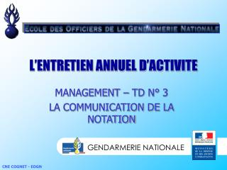 L'ENTRETIEN ANNUEL D'ACTIVITE