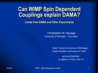 Can WIMP Spin Dependent Couplings explain DAMA? Limits from DAMA and Other Experiments
