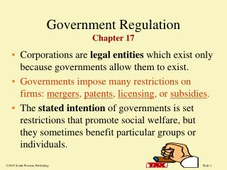 Government Regulation Chapter 17