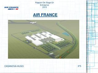 Rapport De Stage En Entreprise  2010