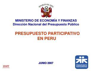 PRESUPUESTO PARTICIPATIVO  EN PERU