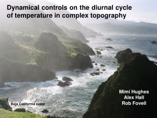 Dynamical controls on the diurnal cycle of temperature in complex topography