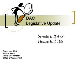 DAC Legislative Update
