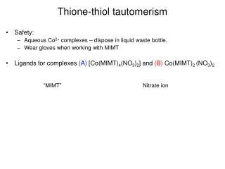 Thione-thiol tautomerism