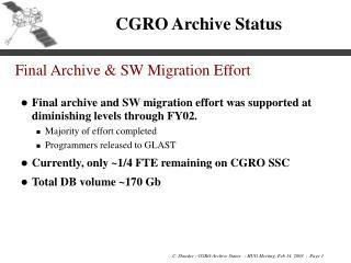 CGRO Archive Status