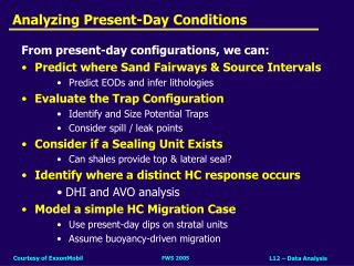 Analyzing Present-Day Conditions