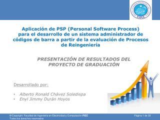 Aplicaci�n de PSP (Personal Software Process)