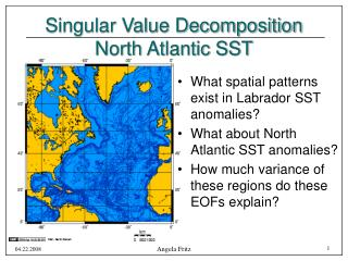 Singular Value Decomposition North Atlantic SST
