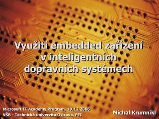 Využití embedded zařízení v inteligentních dopravních systémech