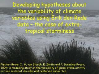 Empirical evidence about extratropical storm variability