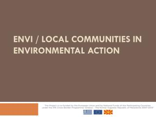 ENVI / Local Communities in Environmental Action