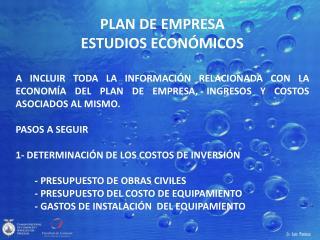 PLAN DE EMPRESA ESTUDIOS ECONÓMICOS
