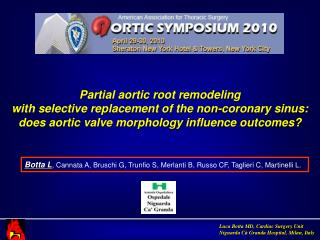 Partial aortic root remodeling  with selective replacement of the non-coronary sinus: does aortic valve morphology influ