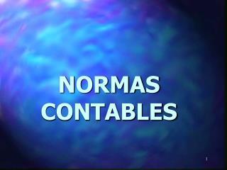 NORMAS CONTABLES