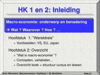 HK 1 en 2: Inleiding