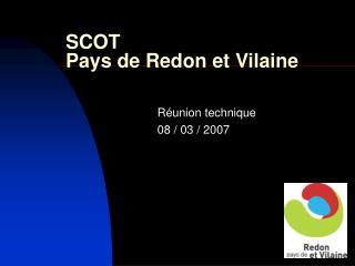SCOT  Pays de Redon et Vilaine