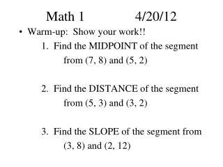Math 14/20/12