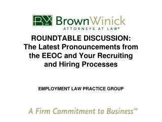 EMPLOYMENT LAW PRACTICE GROUP