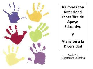 Alumnos con Necesidad Específica de Apoyo Educativo  y  Atención a la Diversidad