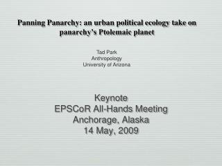 Panning Panarchy: an urban political ecology take on panarchy's Ptolemaic planet