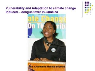 Vulnerability and Adaptation to climate change induced   dengue fever in Jamaica