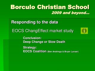 Borculo Christian School 2009 and beyond…
