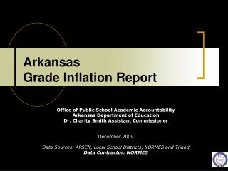 Arkansas  Grade Inflation Report