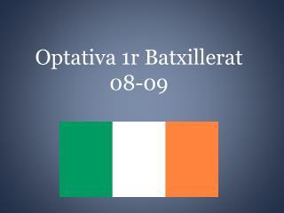 Optativa 1r Batxillerat 08-09