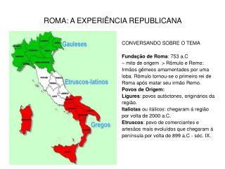 ROMA: A EXPERI NCIA REPUBLICANA