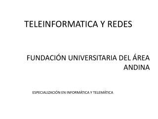 TELEINFORMATICA Y REDES
